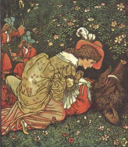 Illustration for Beauty and the Beast by Walter Crane.
