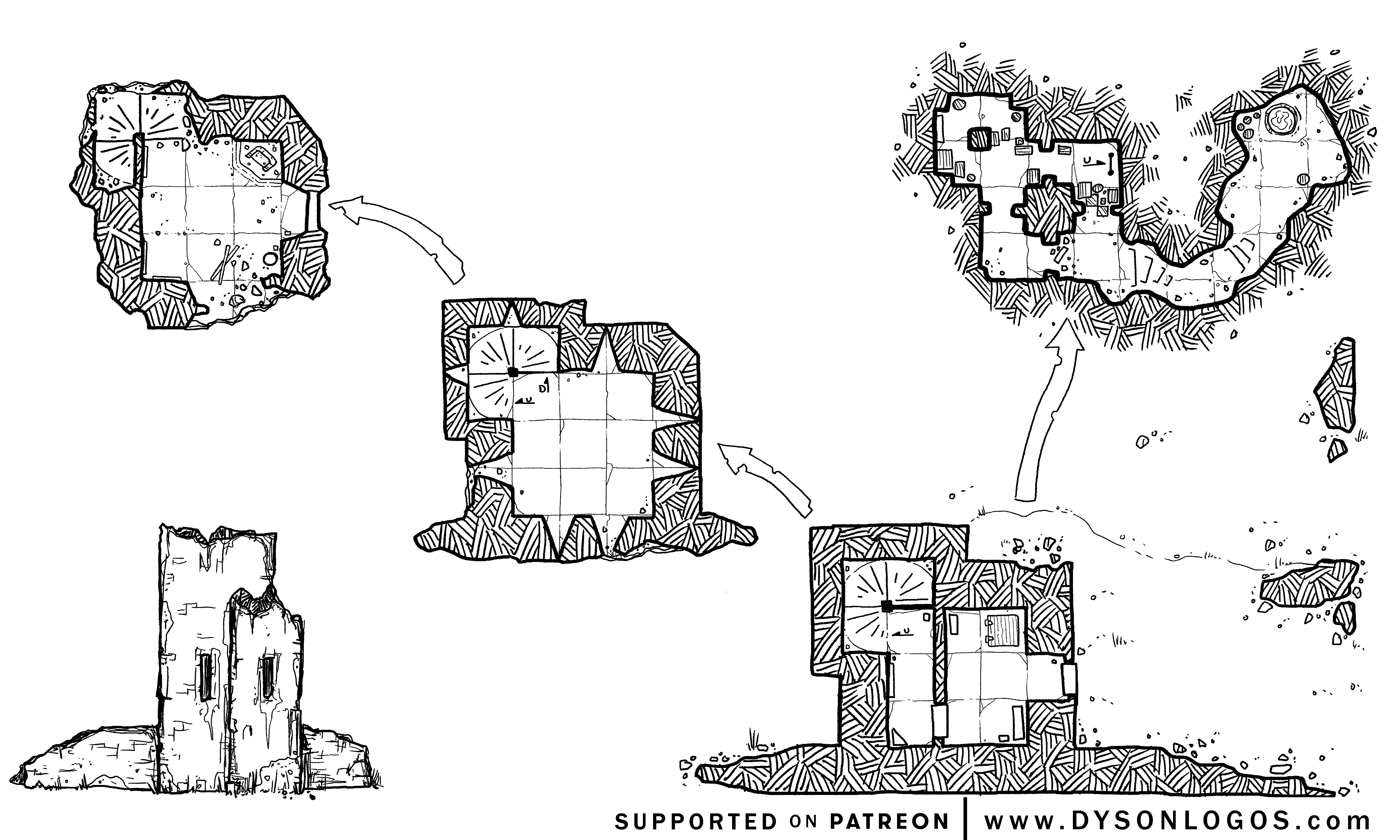 Tower Map by Dyson Logos